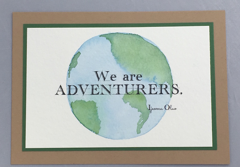 We are adventurers. Handwriting Draft font from the talented font