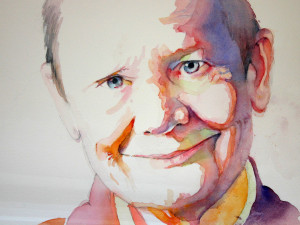 Since I work with watercolors, I adore this portrait of Pema that Lynn Cornish created.